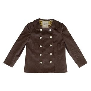 Milly Brown Cotton Peacoat Jacket
